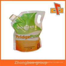Guangzhou fabricante materiais laminados bolsa de líquido com bico