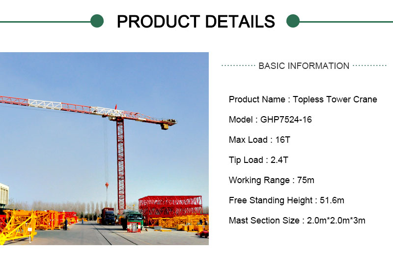 Topless Tower Crane 16 Ton