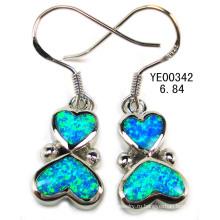 Опал Серьги серебряные ювелирные изделия (YE00036)