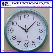 Blue Frame Logo impressão rodada relógio de parede de plástico (Item12)