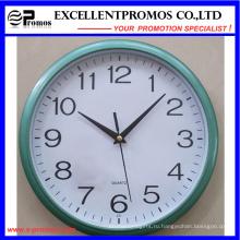 Печать логотипа Blue Frame Круглые пластиковые настенные часы (Item12)