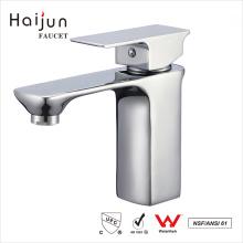 Haijun 2017 Factory Direct Artistic Deck Mounted White Brass Basin Sink Faucet