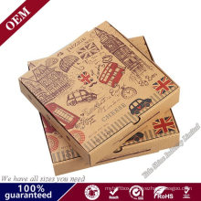 Wholesale 8 10 12 16 Inch Reusable Pizza Carton Custom Printed Corrugated Paper Packaging Cheap Pizza Box