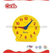 Plastic Teacher Clock Toys, Schulbedarf, Lernspielzeug (CB-ED017-S)