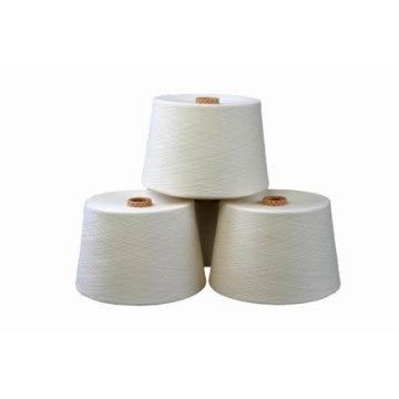100% filé de viscose de polyester tourné