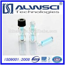 Fabricação 150ul Glass Flat Base Micro Insert para frascos de amostrador automático
