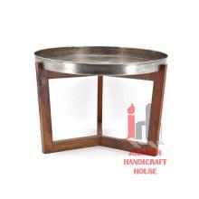 Table basse en métal ronde