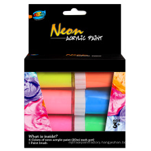 Professinal Neon acrylic Paint kit ARTOYS A0102 kids neon acrylic painting supplies