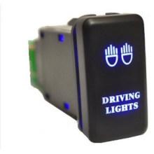 LED 3 AMP 12V Violet Voiture Personnalisée Bar Interrupteur à Poussoir avec Fil