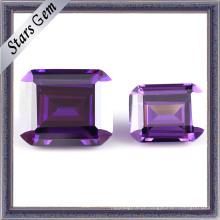 Brilhante corte ametista brilhantes gemas de zircônia (STG-134)