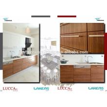 LUCCART Fabrik Türkische Fabrik Wirtschaftsküche Kabinett mit Holz strukturierte Melamined Mdf Tür