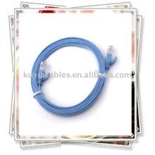 Câble de connexion Blue Ethernet Flat Ethernet Cat6 Compatible avec toutes les configurations de jack RJ45