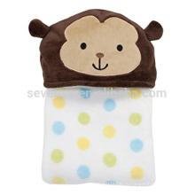 Милые обезьяны с капюшоном ребенка полотенце,75*100см,100% хлопок,держать ребенка теплым и сухим