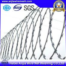 CE y el alambre galvanizado de la maquinilla de afeitar de SGS alambre de púas