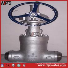 Valve de pression à joint d'étanchéité en acier à haute pression