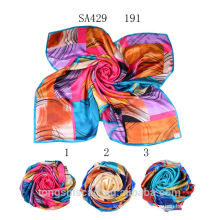 SA429 191 own design silk scarf 100% silk hijab shawl and scarvessupplier alibaba china