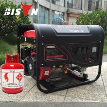 BISON CHINA Selbststart 5KW Erdgas Tragbarer Gasgenerator Benzin