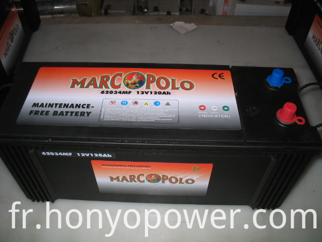 62034 Lead-acid MF Car Batteries