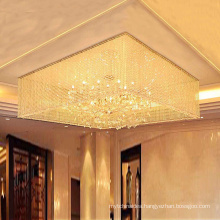 Hotel Project Lighting luxury banquet hall ceiling crystal chandeliers