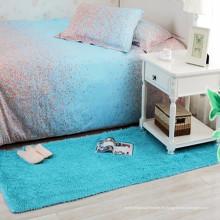 Bett blau langhaarige Nacht Läufer shaggy Teppich Teppich