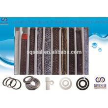 PTFE de graphite et fibre d'aramide dans l'emballage tressé de zèbre