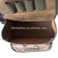 2017 горячая распродажа стеганые PU кожаный дробовика делится оболочки мешок с поясом