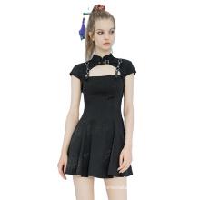 OPQ-748LQF Knee-Length Ruffle hem Square Collar Womens Clothing short sleeve breathable A-line elegant Summer Dresses 2021