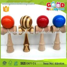Wholesale Solid Color Wooden Toys Kids Kendama