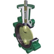 2 shaft butterfly valve