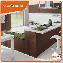 Cabinet de cuisine en placage modulaire en bois stable