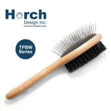 Grooming Tool Wooden Handle Patented Dog Pin Brush Madan