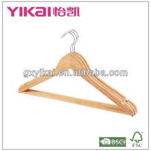 Fábricas de cabides de vestuário na china, cabide de bambu para cabide walmart