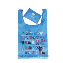 Melhor qualidade baratos nylon saco de compras dobrável, saco de compras dobrável