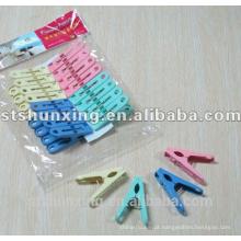 Shunxing barato prático agradável forte plástico pano peg com alta qualidade