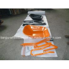 Carretilla de Nigeria Carretilla Wb6220 sin rueda de goma