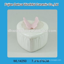 Cutely butterfly design ceramic jewelry gift boxes