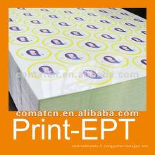 Imprimés et feuille de fer-blanc de vernis pour métaux peut production