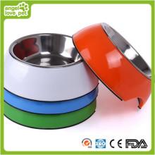 Melamina atacado aço inoxidável cão tigela (hn-PB928)