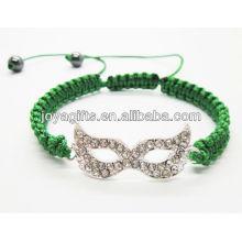 Bracelete de shambala de liga de olhos de prata