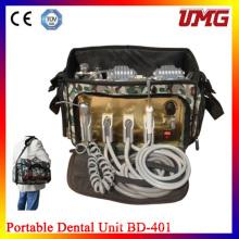 Unidad móvil portátil dental con sistema de succión