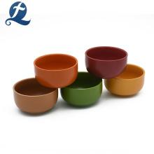 Vente chaude couleur unie décoration de mariage en céramique soupe bol de riz