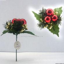 Ornements décoratifs en plastique décoratifs en train de Noël