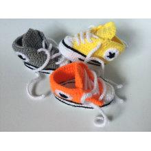 Baby-Häkelarbeit-Turnschuhe Tennis-Beuten-Jungen-Mädchen-Säuglingssport-Schuhe