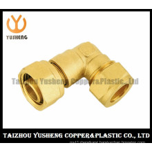 Male Brass Elbow Pipe Fittings with Two Nuts (YS3111)