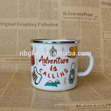 esmalte drinkware shaker jar pequeno copo joyshaker / leite esmalte