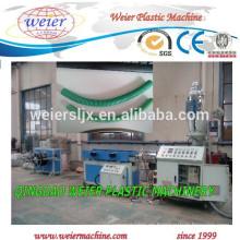 Plástico PP PE PVC PA EVA corrugado maquinaria de manguera flexible
