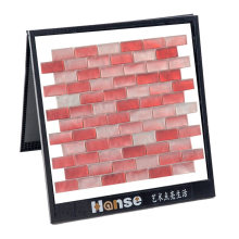 Foshan High Quality Arctic Ice Subway Red Glass Mosaic Tile