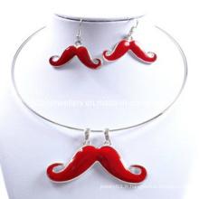 Mode, mignon, jolie, belle, glorieuse, ensemble de collier de moustaches (XJW12599)