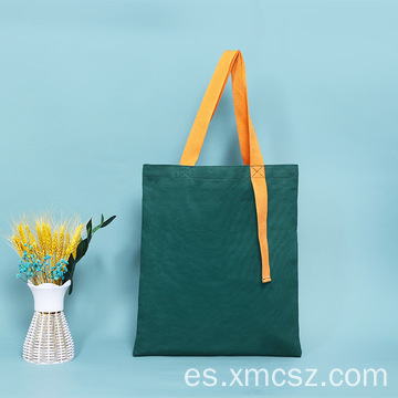 Bolso shopper plegable con estampado completo y rayas largas