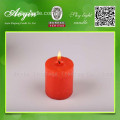 5 * 5 Multi-Colored Smokeless Pillar Vela com Fragrância